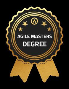 Agile Masters Degree Gold Badge Auszeichnung